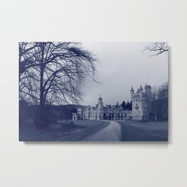 Balmoral Castle, Royal Deeside, Scotland blue tint Metal Print