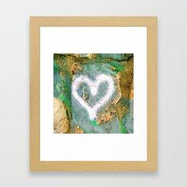 graffiti heart Framed Art Print