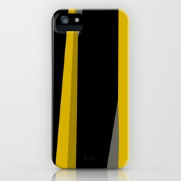 yellow gray and black iPhone Case