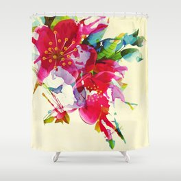 exploded floral Shower Curtain