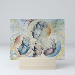 """William Blake """"St. Peter, St. James, Dante and Beatrice with St. John Also"""" Mini Art Print"""