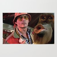 fear and loathing Area & Throw Rugs featuring Johnny Depp @ Fear and Loathing in Las Vegas #2  by Gabriel T Toro