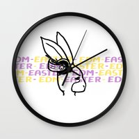 edm Wall Clocks featuring EDM - Easter by Ken Coleman