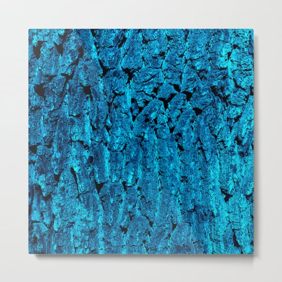 blue tree bark VI Metal Print