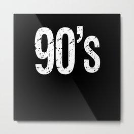 90s Vintage Metal Print