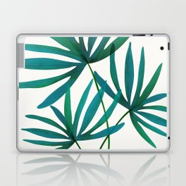 Fan Palm Fronds / Tropical Plant Illustration Laptop & iPad Skin