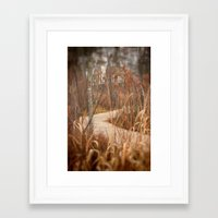 boardwalk empire Framed Art Prints featuring Boardwalk by Heather Reid