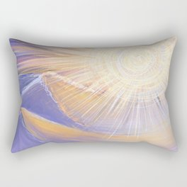 Purple Mountain Sunrise Painting | Landscape Acrylic | Digital Procreate Art Rectangular Pillow