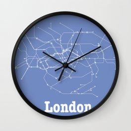 London Subway Poster Wall Clock