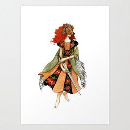 Ginger warrior Art Print