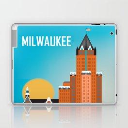 Milwaukee, Wisconsin - Skyline Illustration by Loose Petals Laptop & iPad Skin