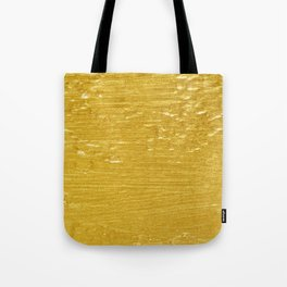 Solid Gold Paint Texture Tote Bag