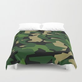 Camouflage Splinter Pattern Green Barret Duvet Cover
