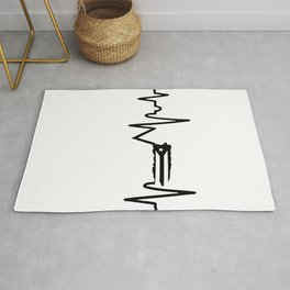 Puerto Rican heartbeat,map Rug