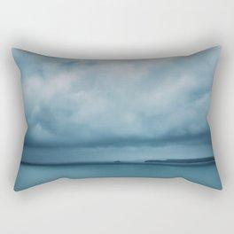 Drifting Blue Rectangular Pillow
