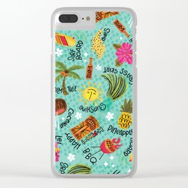 It's A Tiki Party! Clear iPhone Case