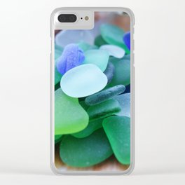 Beach Glass, assorted colors Clear iPhone Case