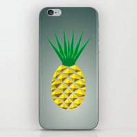 pineapple iPhone & iPod Skins featuring Pineapple by mailboxdisco