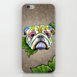 English Bulldog - Day of the Dead Sugar Skull Dog iPhone Skin