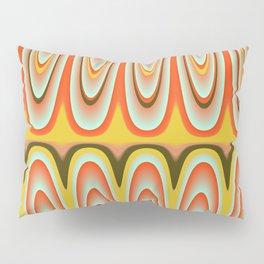 Gold, Orange, Blue Pattern Pillow Sham