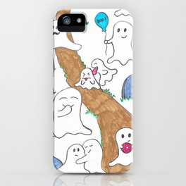 Ghost graveyard party iPhone Case