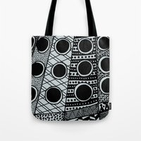 dalek Tote Bags featuring Dalek by Rebecca Bear