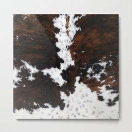 Brown Cowhide, Farmhouse decor Metal Print