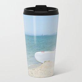 Edge of Long Beach Travel Mug