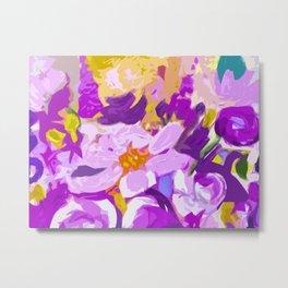 Abstracted Flowers in Lavender  Metal Print