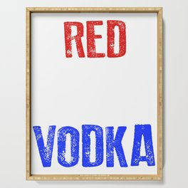 Red White And Vodka 4th Of July Serving Tray
