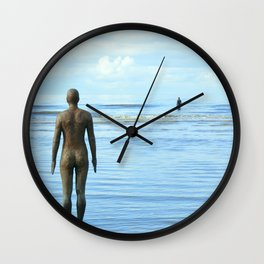 Iron Men as the tide returns Wall Clock