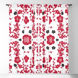 Bloody Blossoms Blackout Curtain