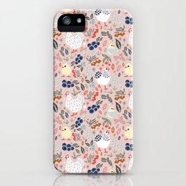 Rosy Hens iPhone Case