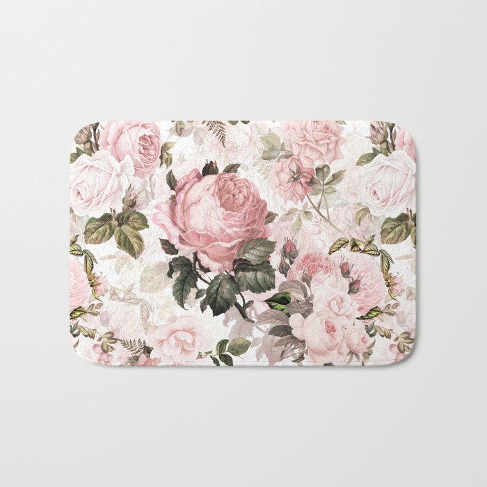Vintage & Shabby Chic - Sepia Pink Roses  Badematte