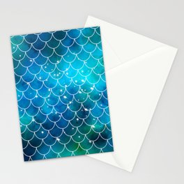 Mermaid Galaxy Scallop Pattern Stationery Cards