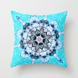 Turquoise dream within a dream Throw Pillow