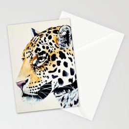 The Leopard Watercolor (Color) Stationery Cards