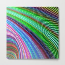Striped Vortex Metal Print