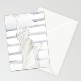 Lady Liberty • Americana Sepia Stationery Cards