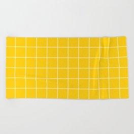 Sunshine Grid Beach Towel