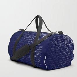 Blue Midnight Butterfly Duffle Bag