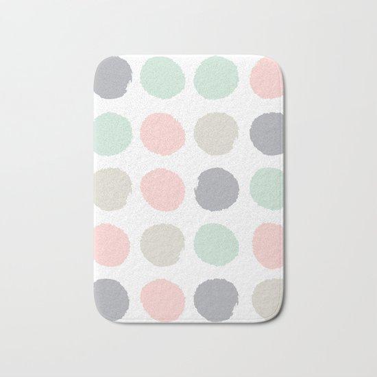 Hayes - minimal dots gender neutral baby modern nursery art decor trendy Bath Mat