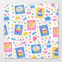 cupcakes Canvas Prints featuring Cupcakes by Hui_Yuan-Chang