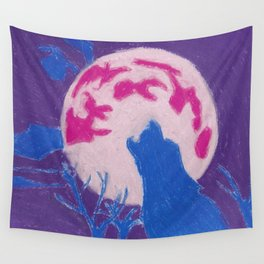 Howl at the moon Wall Tapestry