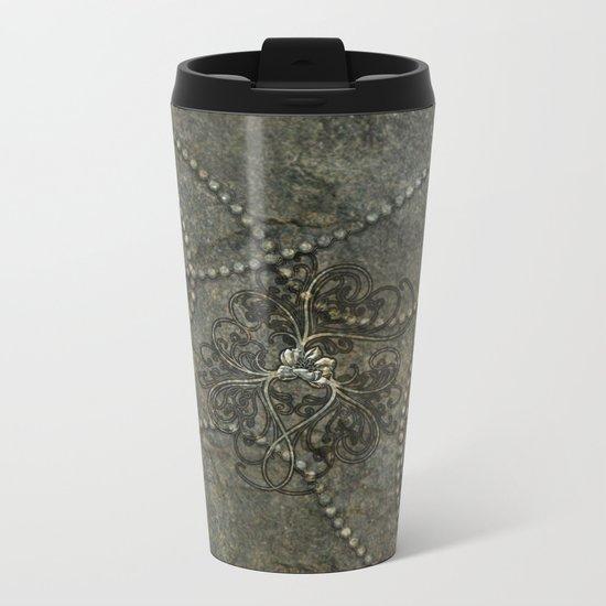 Wonderful floral design Metal Travel Mug