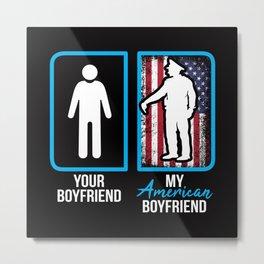 American Police Officer Boyfriend Metal Print