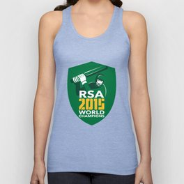 South Africa Cricket 2015 World Champions Shield Unisex Tank Top