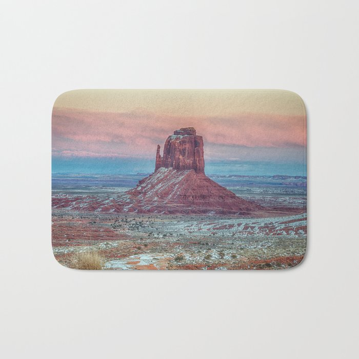 MONUMENT VALLEY AT SUNSET Bath Mat