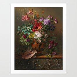 Georgius Jacobus Johannes van Os - Still life with flowers in a Greek vase - 1817 Art Print