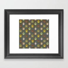 Classy Muffins Pattern Framed Art Print